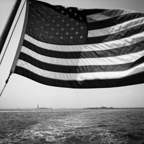 Lady Liberty and the flag